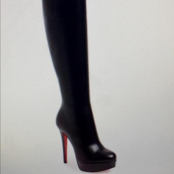 best website a9b16 a2bf2 ChristianLouboutin Black BiancaBotta Platform Boot